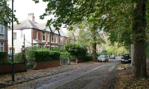 A rather nice leafy suburb in Greater Manchester.