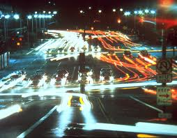 Movies at the speed of light in Koyaanisqatsi